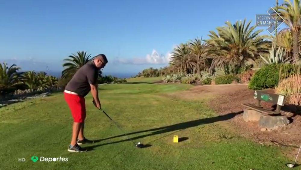 """Cristian Siverio, el primer golfista que vuelve a un campo tras el confinamiento: """"Tenía bastante ansias por salir"""""""