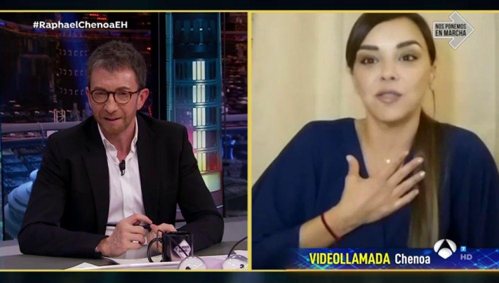 """Chenoa apela en 'El Hormiguero 3.0' al """"espíritu de lucha"""" para vencer al coronavirus"""