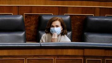 La vicepresidenta primera del Gobierno, Carmen Calvo