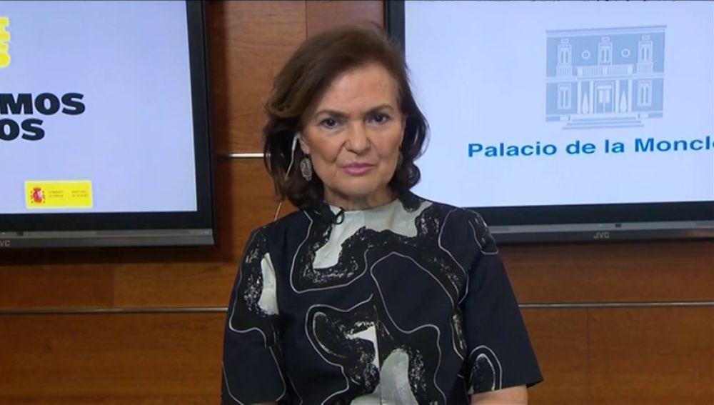 """Carmen Calvo anuncia que la prórroga del estado de alarma no será la última: """"Necesitaremos algunas semanas más"""""""