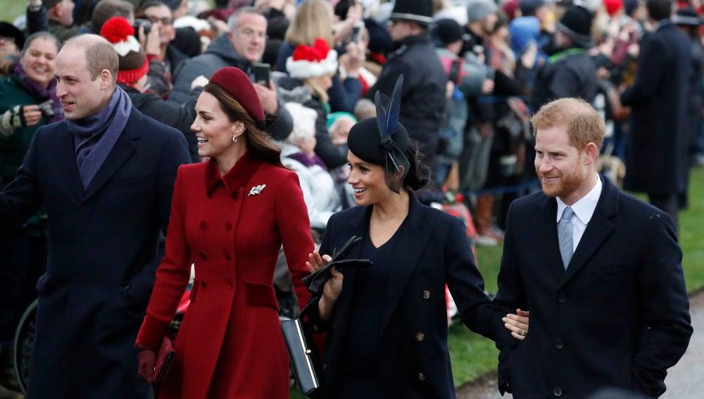 Kate Middleton, el príncipe Guillermo, Meghan Markle y el príncipe Harry