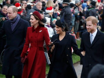 Kate Middleton, el príncipe Guillermo, Meghan Markle y el príncipe Harry