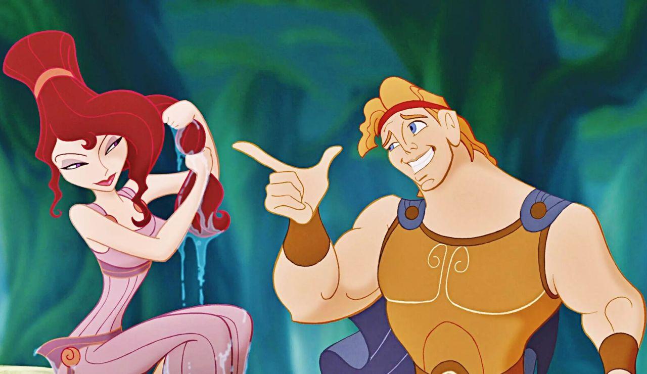 Megara y Hércules de Disney