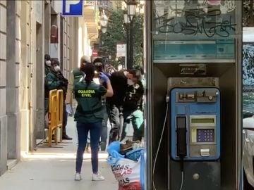El momento de la detención del presunto terrorista