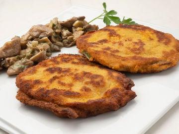 Filetes rellenos de queso de cabra