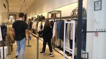 Reapertura de una tienda de Zara