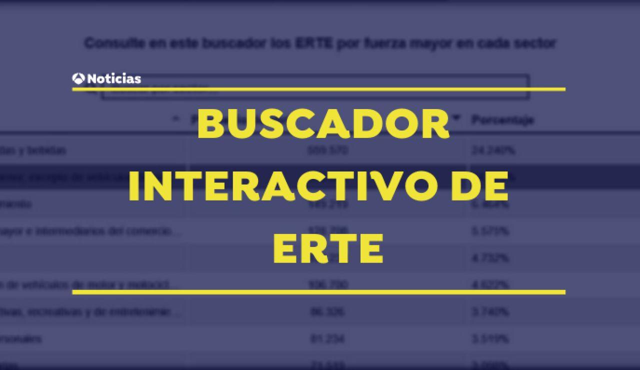 Buscador interactivo de ERTE
