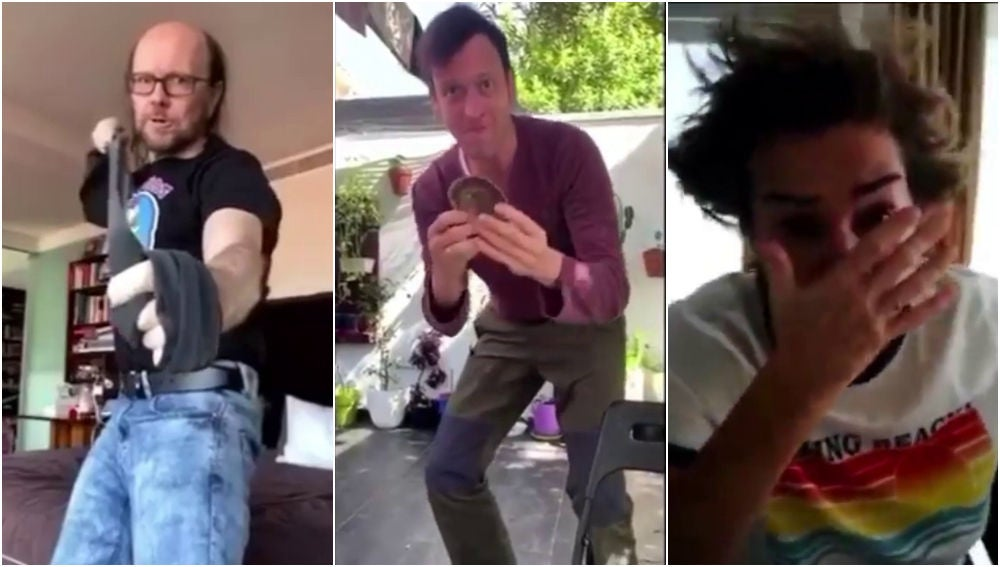 Los cómicos de 'Me resbala' se lían a golpes en un divertidísimo vídeo durante el confinamiento