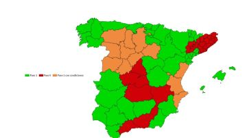 Mapa provincias que pasan de fase