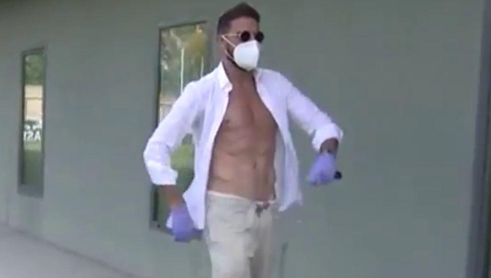 El show de Joaquín en el regreso a las instalaciones del Betis para hacerse los test de coronavirus