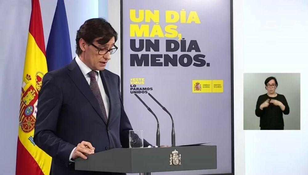 """A3 Noticias Fin de Semana (10-05-20) Salvador Illa niega que Pedro Sánchez mintiera como apunta la CNN: """"Dijo que España era el quinto país con más test y es correcto"""""""