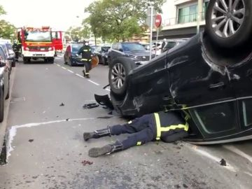Un conductor octogenario pierde el control de su coche y atropella a una mujer en Pozuelo (Madrid)