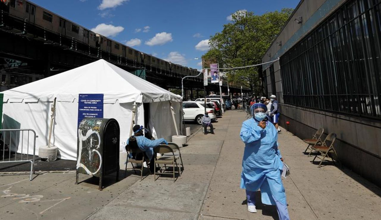 Test de coronavirus en EEUU