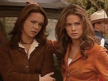Natasha Klauss y Danna García como Sarita y Norma Elizondo en 'Pasión de Gavilanes'