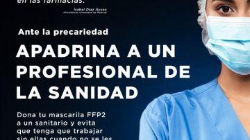 'Apadrina a un profesional de la sanidad madrileña'