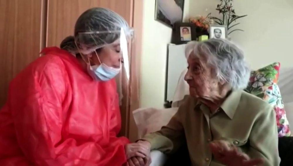 La mujer más longeva de España supera el coronavirus a los 113 años