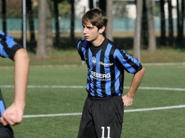 Andrea Rinaldi, en un partido del Atalanta