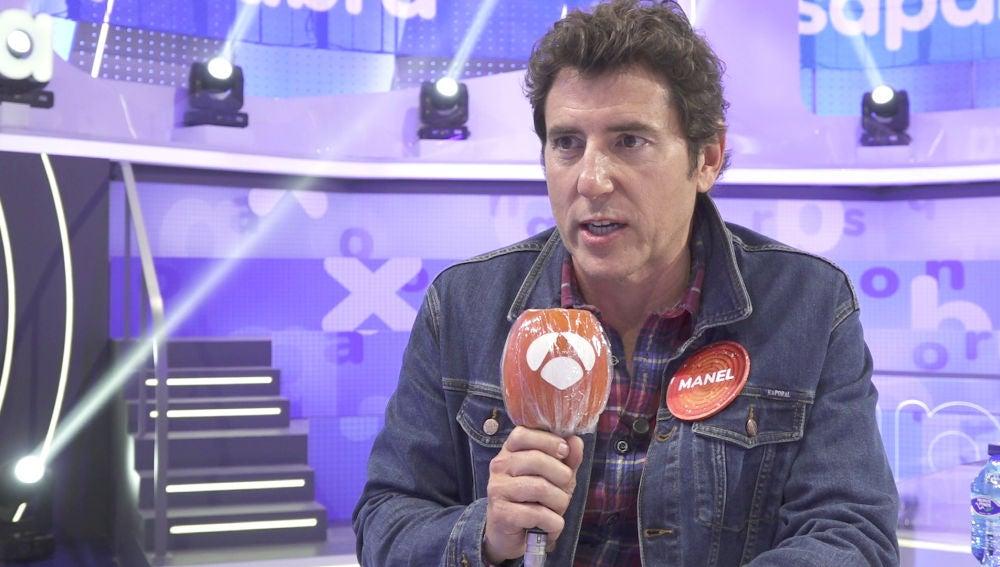 """Manel Fuentes debuta como concursante en 'Pasapalabra': """"Estoy sorprendido de mí mismo"""""""