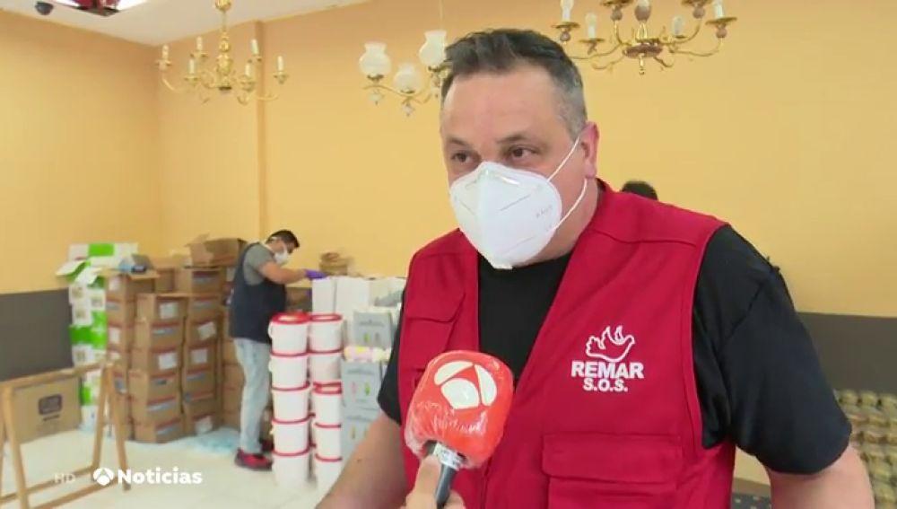 Las ONG de reparto de comidas, desbordadas en Madrid por el coronavirus