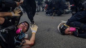 La pamplonesa Susana Vera gana el Pulitzer con esta fotografía de los disturbios de Hong Kong