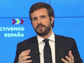 Pablo Casado votará en contra de ampliar el estado de alarma y plantea un pacto por la sanidad tras el coronavirus