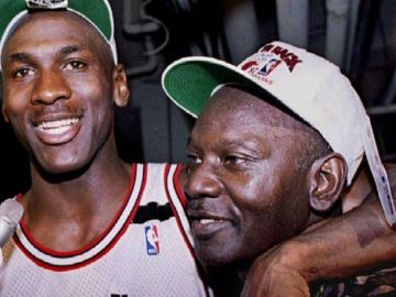 Michael Jordan y su padre, James Jordan