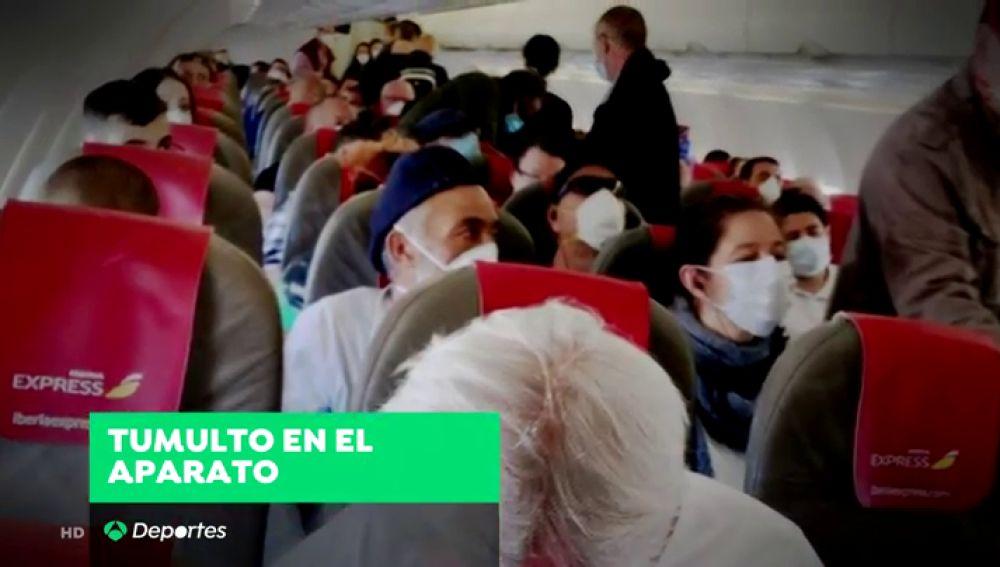 Una jugadora de baloncesto, en el polémico vuelo entre Madrid y Gran Canaria