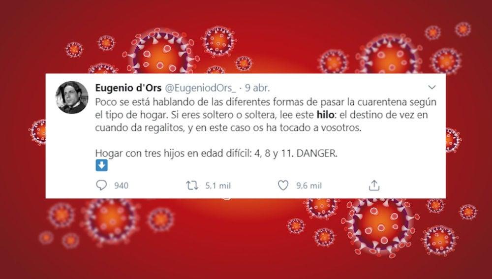 Tuit de @eugeniodors_