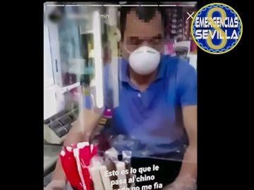 Captura del vídeo subido en redes