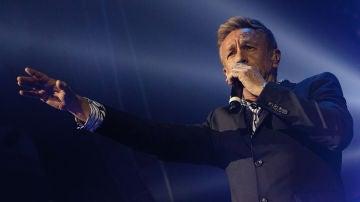 Rafa Sánchez, cantante de La Unión, durante un concierto