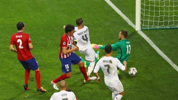 Sergio Ramos y su gol a Oblak