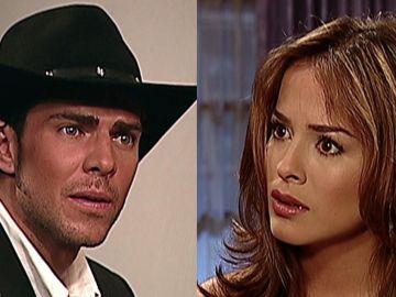 Juan Alfonso Baptista y Danna García en 'Pasión de Gavilanes' como Óscar Reyes y Danna García