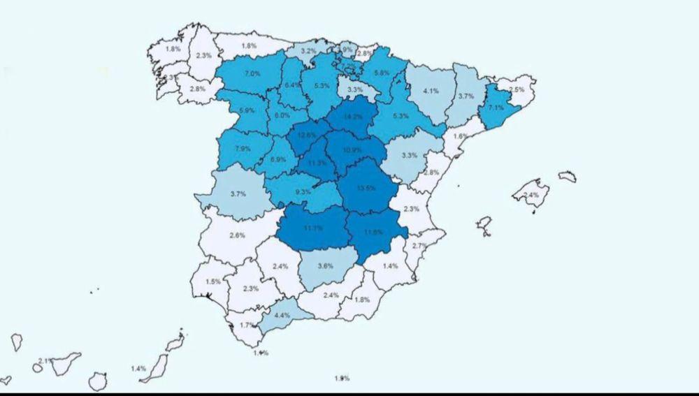 Mapa de la inmunidad en provincias