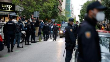 Despliegue en el barrio de Salamanca tras las sucesivas caceroladas en contra del Gobierno
