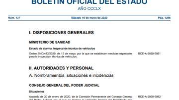 Boletín Oficial del Estado (BOE) sábado 16 de mayo