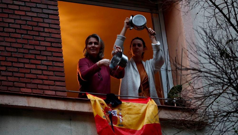Caceroladad en Madrid contra la gestión del Gobierno