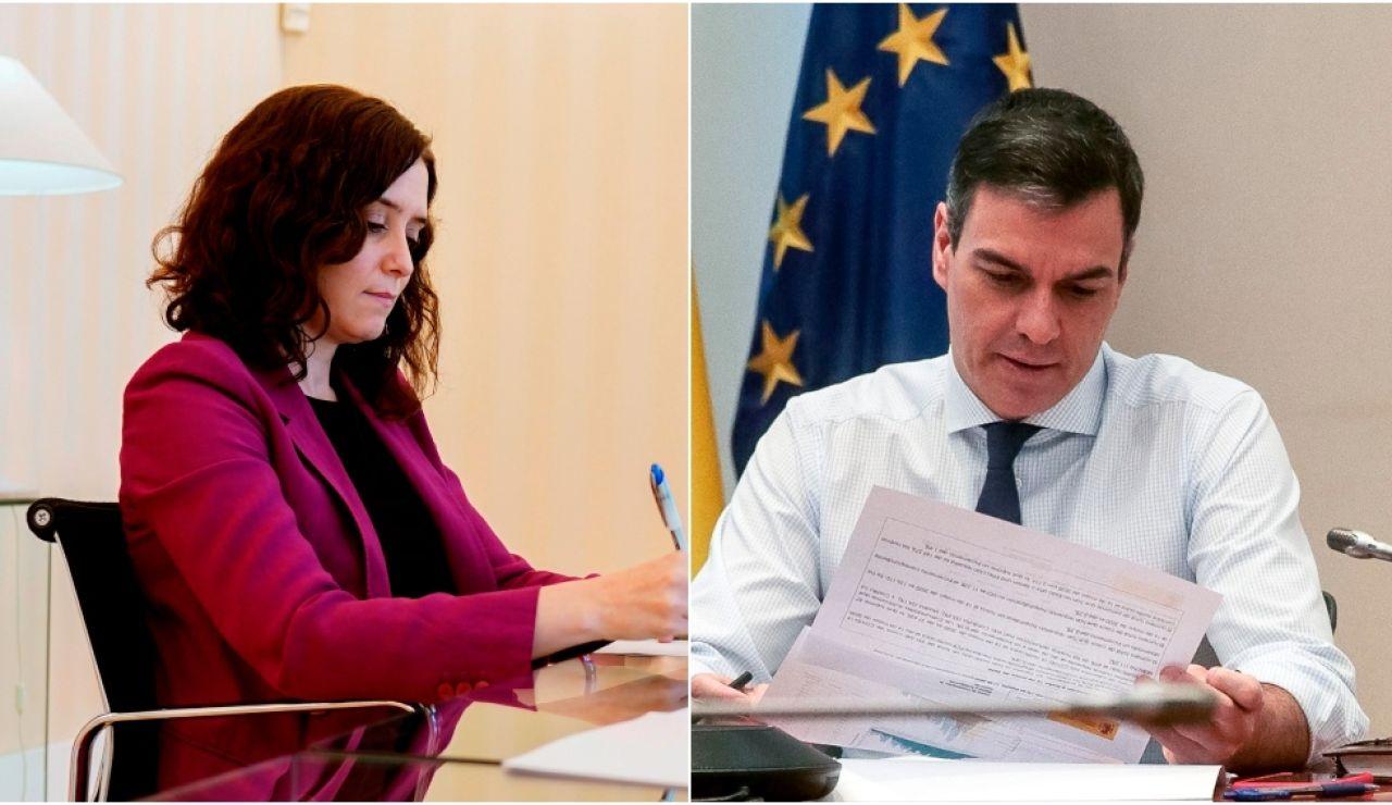 Isabel Díaz Ayuso y Pedro Sánchez