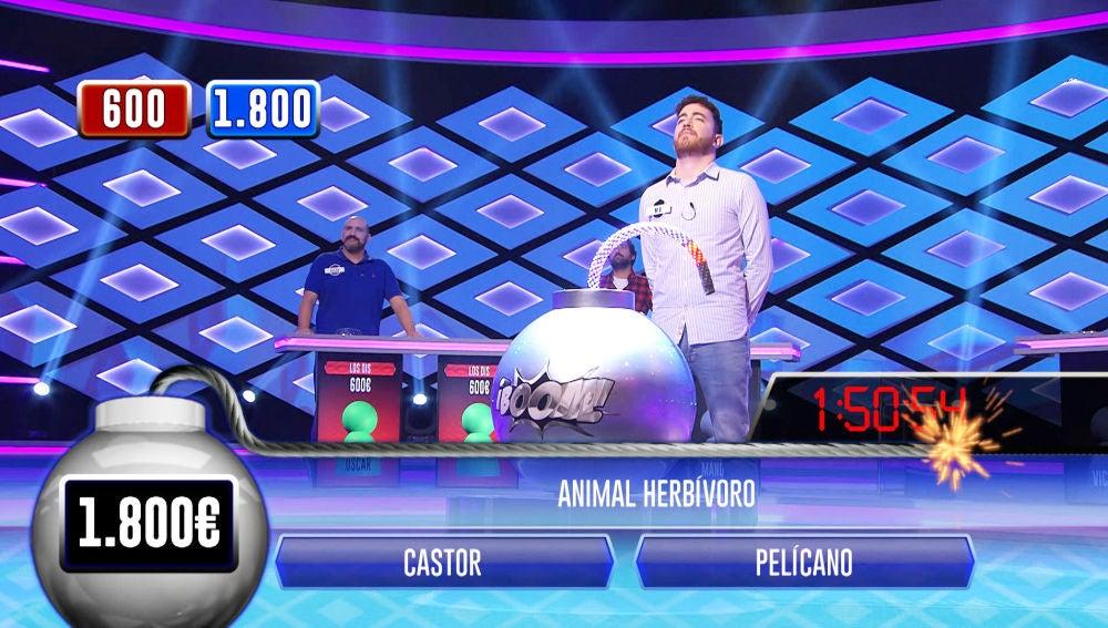 Victoria y M. A., del equipo 'Persos', ganan el primer duelo en '¡Boom!' contra Óscar y Manolo