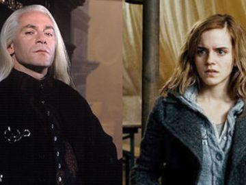 Lucius Malfoy y Hermione Granger en 'Harry Potter'