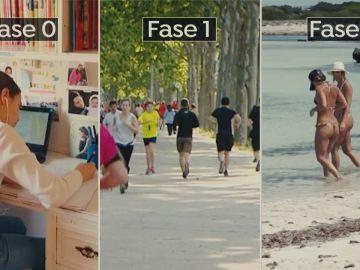 Tres fases conviven en España