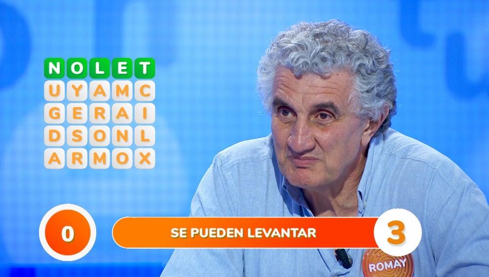 Fernando Romay mata de la risa al equipo rival en la 'Sopa de Letras'