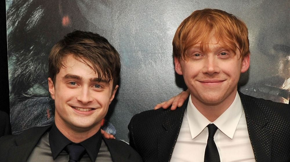 Daniel Radcliffe y Rupert Grint son Harry Potter y Ron Weasley