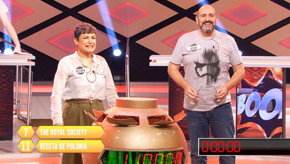 Óscar y Victoria rozan el bote de '¡Boom!' con una jugada casi perfecta