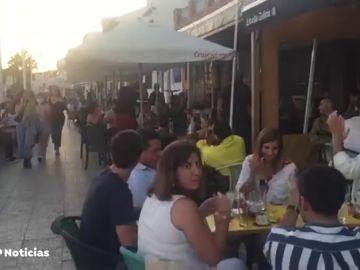 Terrazas llenas en Pedregalejo, en Málaga