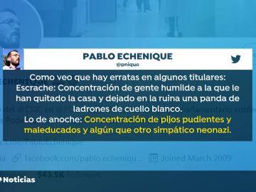 El tuit de Echenique en apoyo a Ábalos tras el escrache