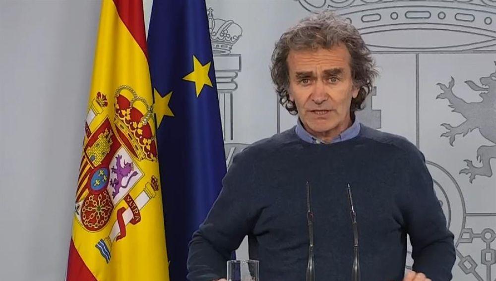 Fernando Simón informa del repunte de contagiados en Madrid