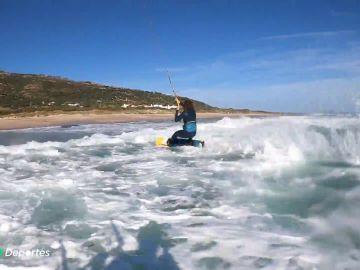 La playa de Valdevaqueros, la meca mundial del kitesurf, disponible solo para Jerome y Liam
