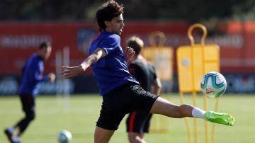 Joao Félix, en el entrenamiento del Atlético de Madrid