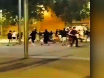 Brutal pelea en Barcelona por un patinete