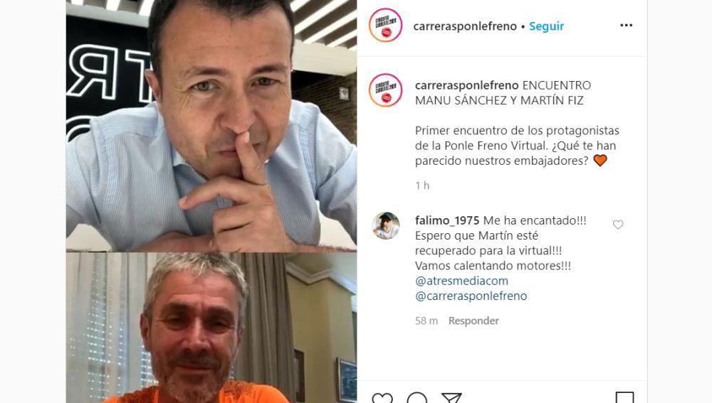 Manu Sánchez y Martín Fiz